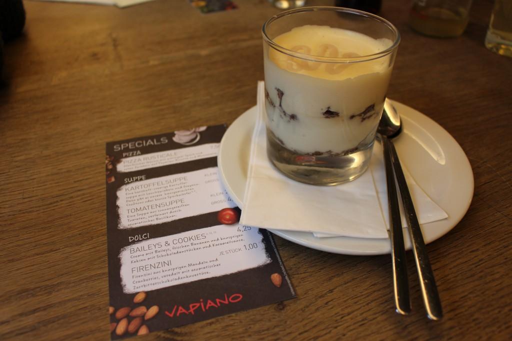 Vapiano Specials Baileys & Cookies Dessert 2016