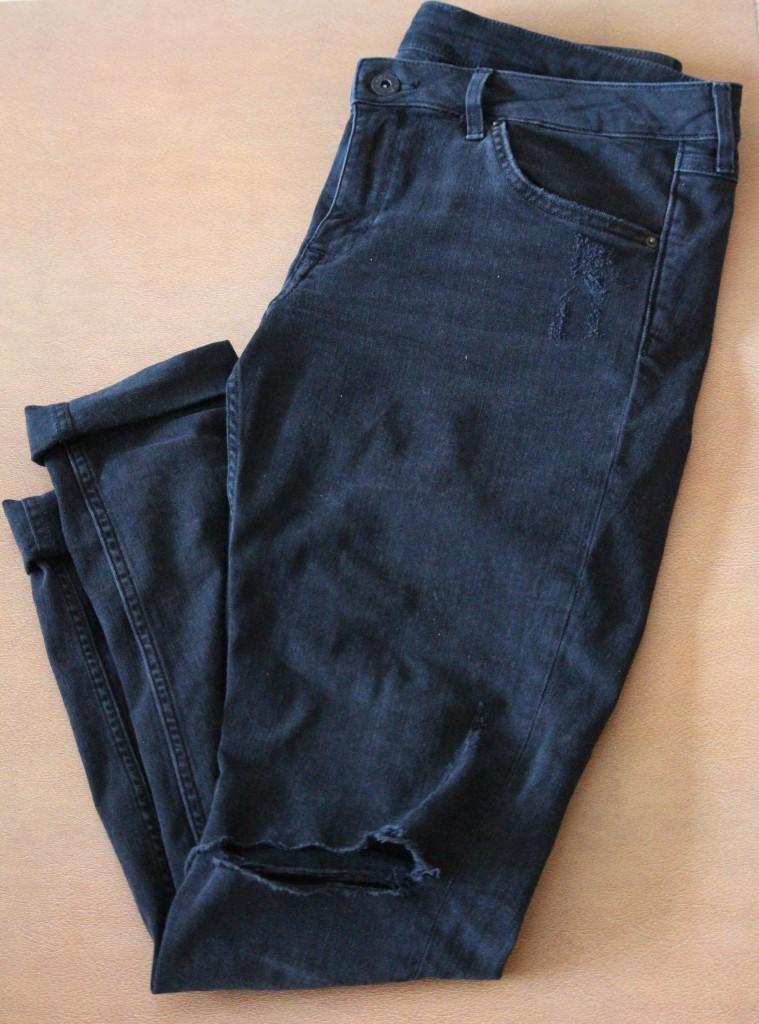 Destroyed Jeans Black H&M