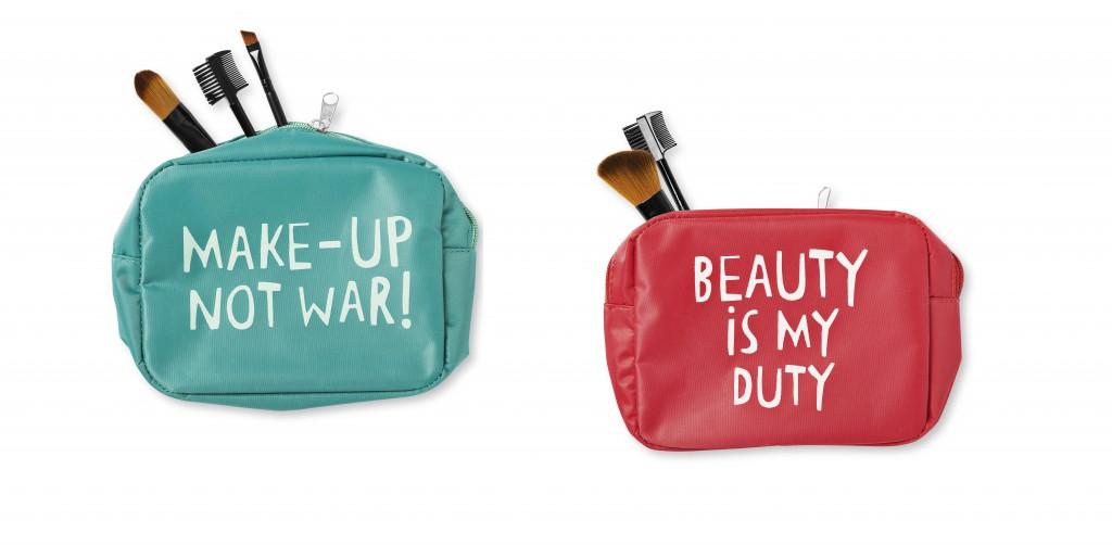 Make Up Bag, Tiger, Mint, Pink, Make Up not War, Beauty is my duty
