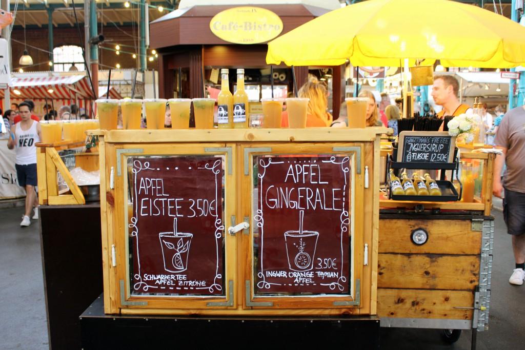 Naschmarkt, Markthalle Neun, Berlin, Kreuzberg, Apfel Ginger Ale, Eistee, Homemade Drinks
