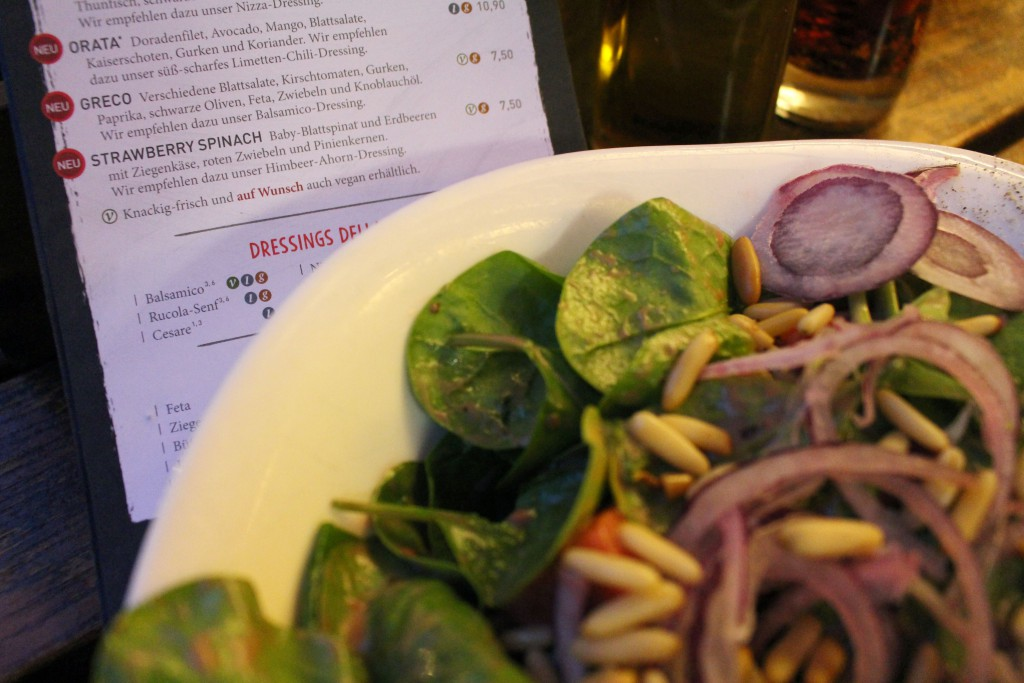 Strawberry Spinach, Erdbeere, Spinat, Insalata, Salat, Vapiano, Speisekarte, 2016
