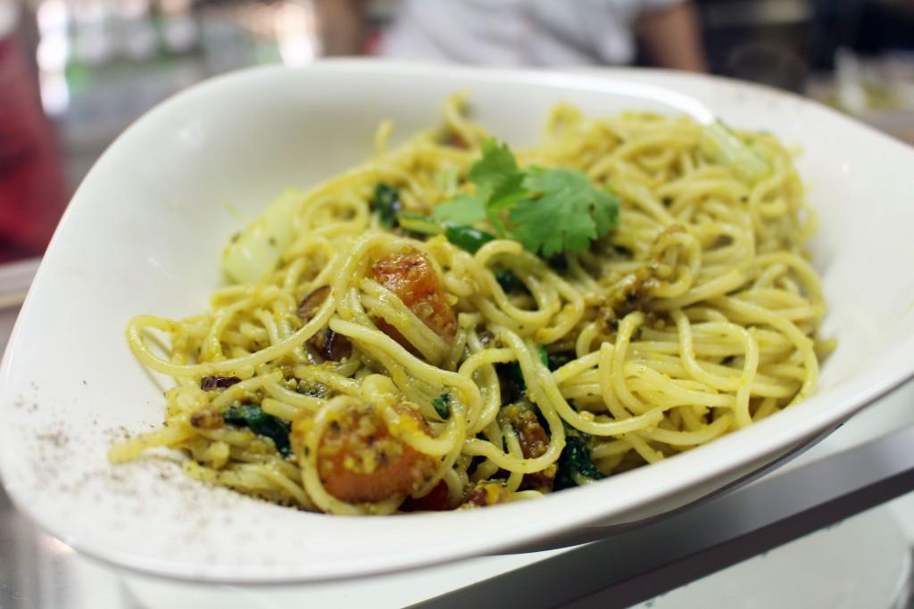 Pasta Pesto Zucca, Vapiano, Specials, September, Oktober, 2016, Vapianospecials, vegan, Kürbis
