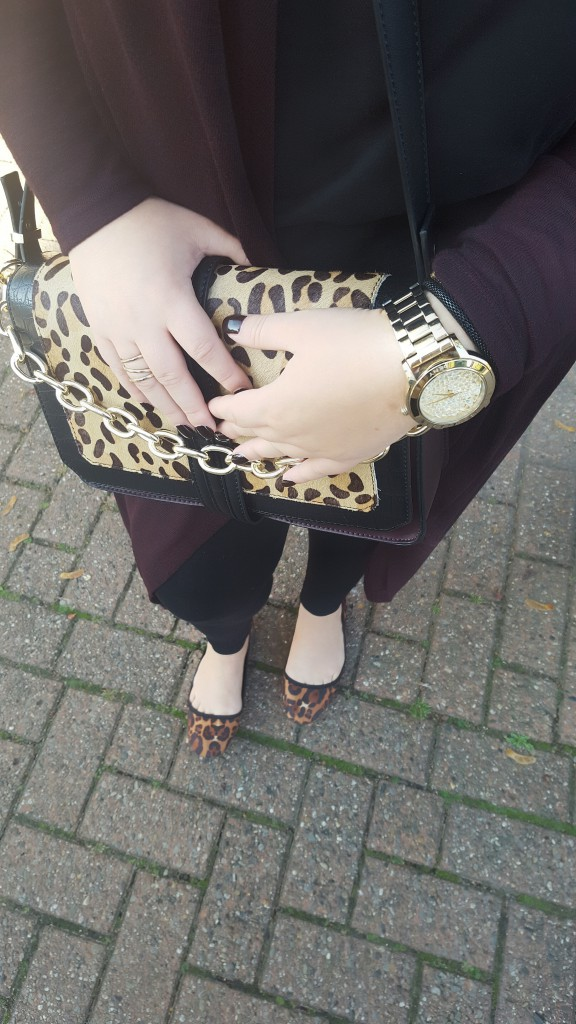 Tasche, Bag, Limited Edition, Herbst, Primark, Leo, Gold, Print, Materialmix, Outfit, Accessoires, Details, dkyn, Schmuck