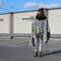 Poncho, grey-in-grey, Ethnomuster, Herbstlook, h&m, Outfitpost, Accessoires, Fashion