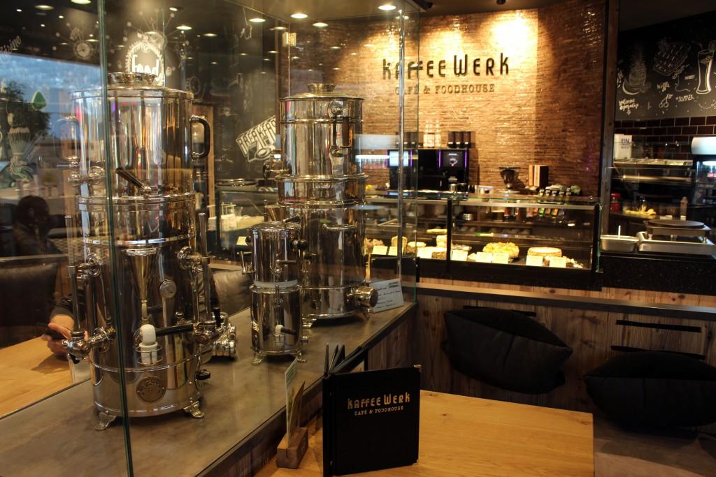 Café, Bremen, Weserpark, kaffeeWerk, Foodhouse, Restaurant, 50er Jahre, Kaffeemaschinen, Nostalgie, Antiquität