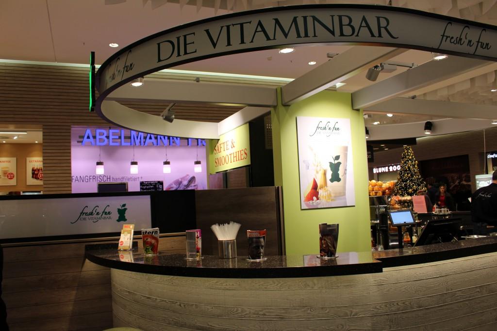 fresh n' fun, Vitaminbar, Smoothies, Bremen, Weserpark, Ingwer-Shot, gesund, Bar