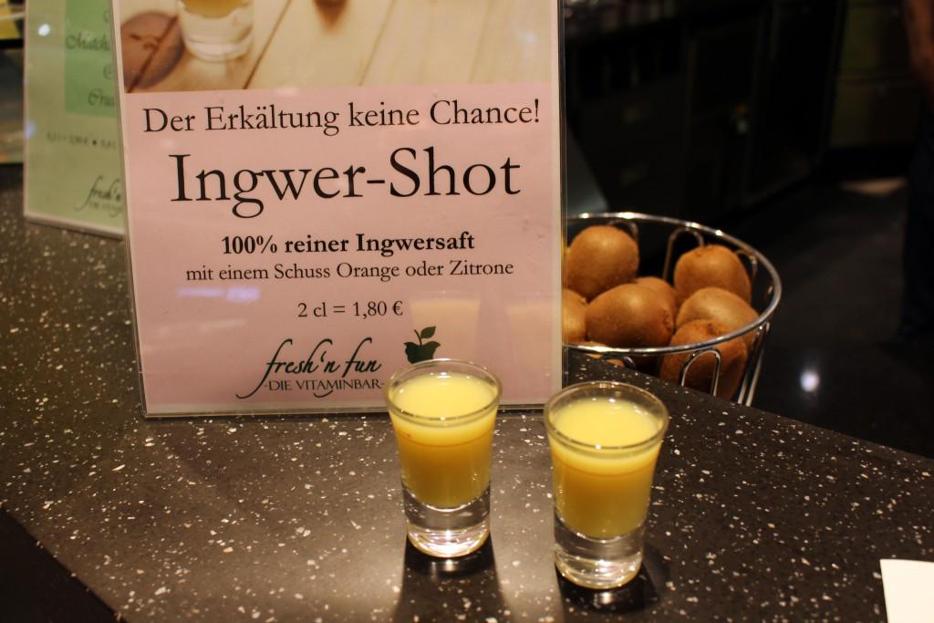fresh n' fun, Vitaminbar, Smoothies, Bremen, Weserpark, Ingwer-Shot, gesund, Bar, Superfood, Ingwer, Ginger-fireball