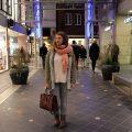 Winter, City, Look, rosa, bordeaux, Fashion, Mode, Pullover