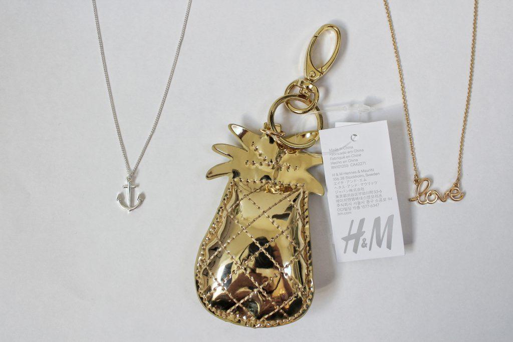 h&m, Halskette, Glamour Shopping Week, Necklace, Anker, love, gold, silber, Ananas, Schlüsselanhänger