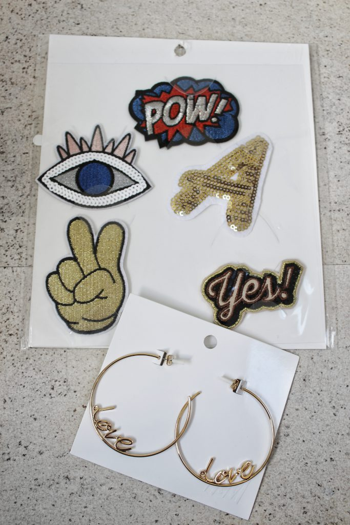 h&m, Glamour Shopping Week, Ohrringe, gold, Creolen, love, Patches, Comic, Pow, Yes, diy
