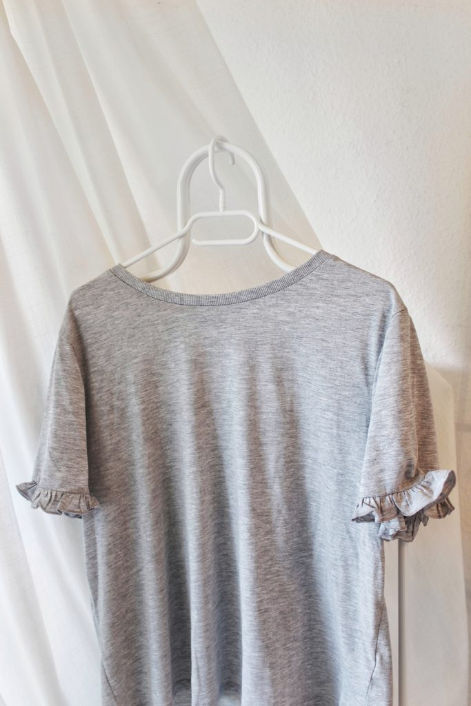h&m, Glamour Shopping Week, T-Shirt, grey, Volant