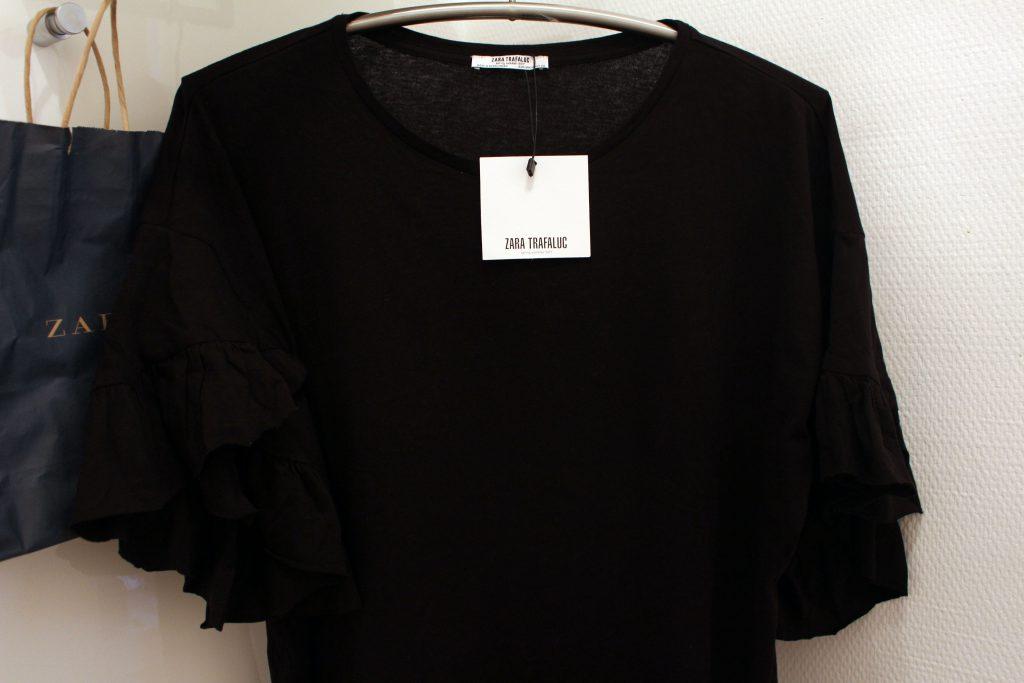 Zara, TRF, Shirt, Volant