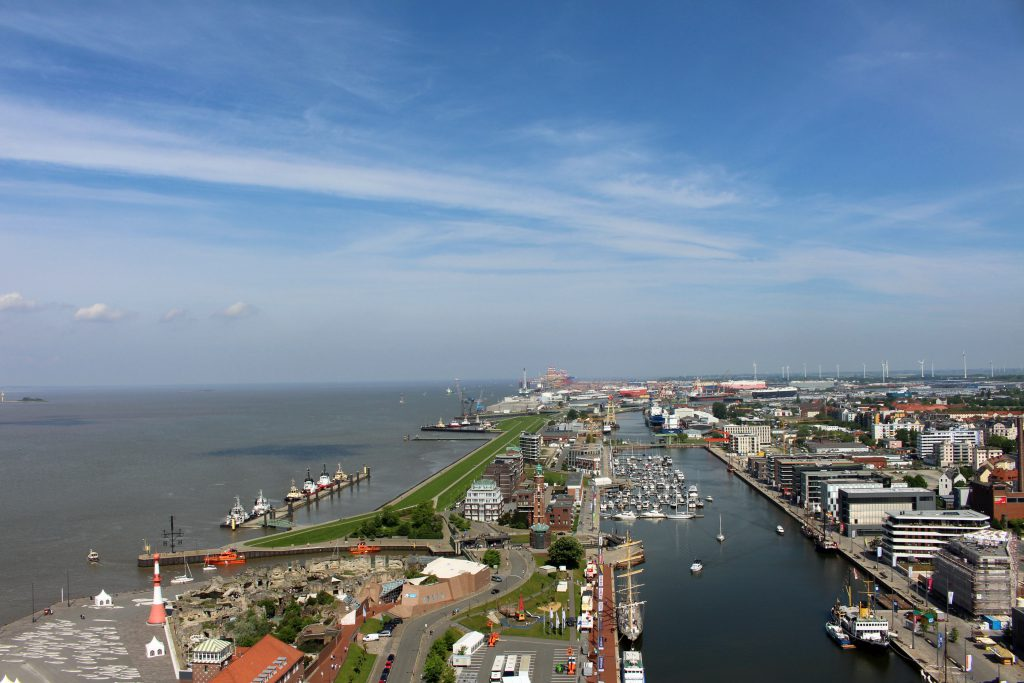 Bremerhaven, Atlantic Hotel Sail City, Aussichtsplattform, Hotel
