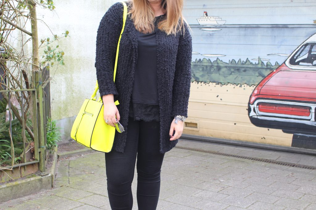 Fashion, Outfit, Frühling, Tasche, Stradivarius, all black
