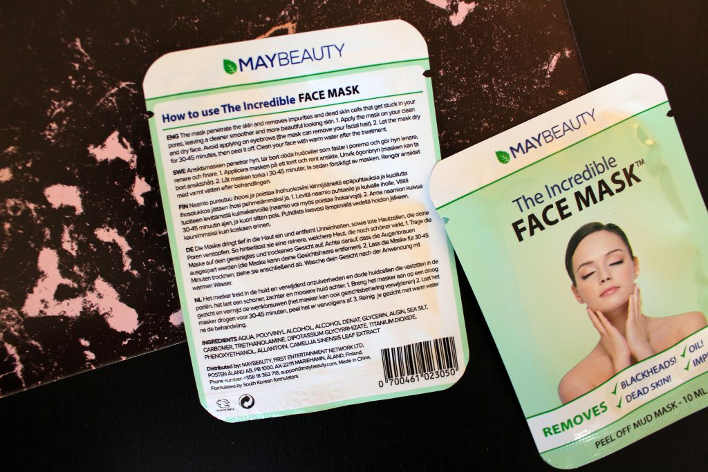 MayBeauy, Incredible Face Mask, Black Mask, Black Head Mask, Peel Off Maske