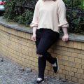 Frühlingsoutfit, Destroyed Jeans, Schwarz, Pastell, Rosa, Zara, Sweater, Pullover, Schleife, Herzsöckchen
