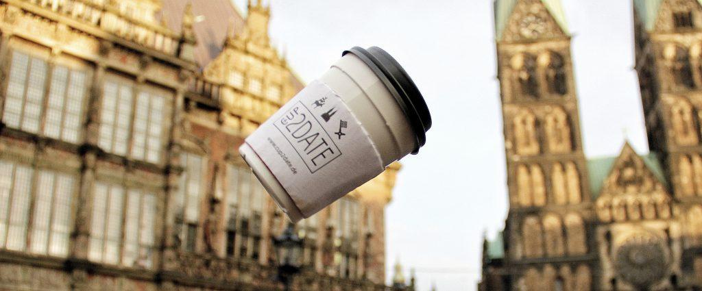 Nachhaltigkeit, Becherpfandsystem, Bremen, Cup2Date, Cafés, Kaffee, to go, Umwelt, Projekt
