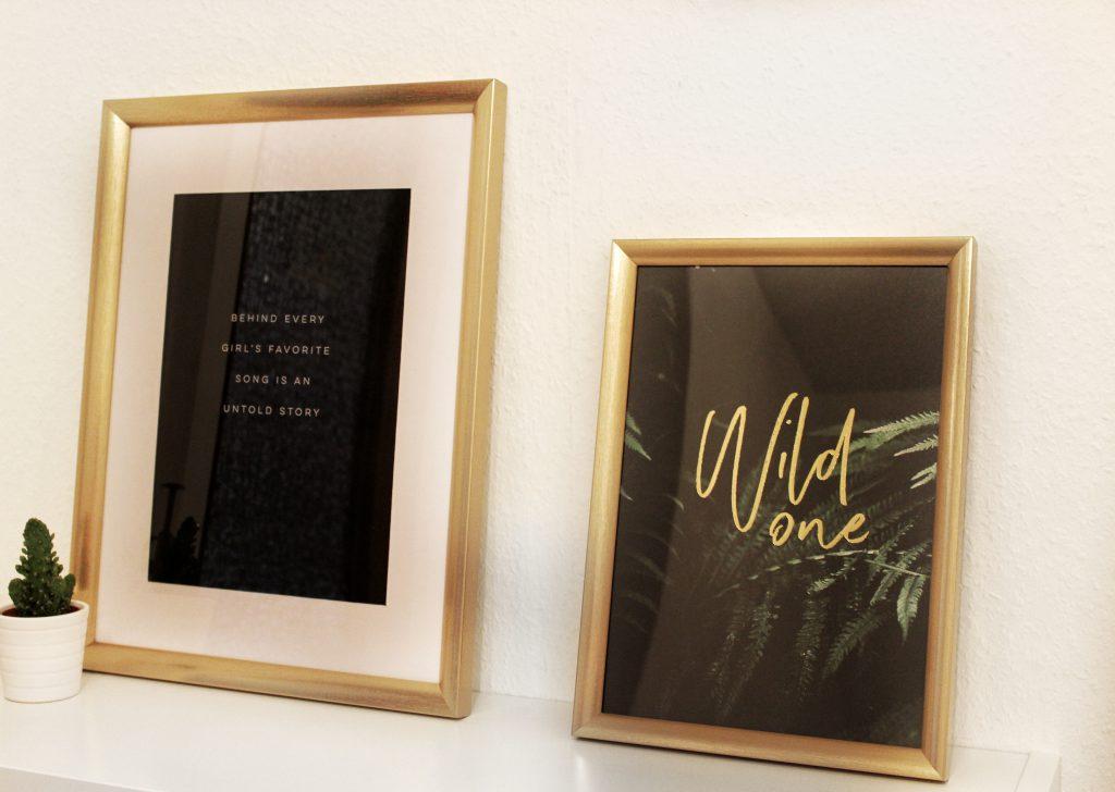 Wallart, Picture, Desenio, Onlineshop, Gold, Quotes, Interior, Dekoration