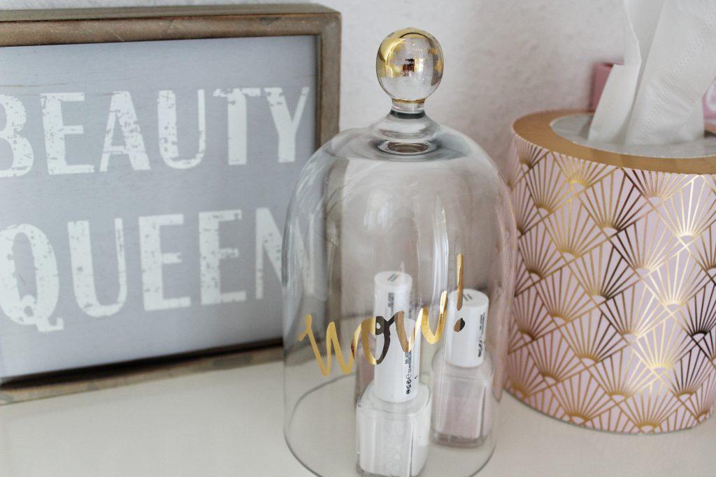 Schlafzimmer, Dekoration, Beauty Queen, Glasglocke, H&M Home, Dekoration, Interior